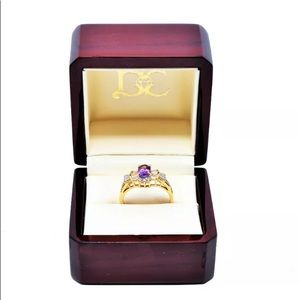 Jewelry - 14K GOLD PLATED - AMETHYST RING